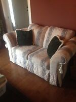 Sofa/Couch and Loveseat with pillows