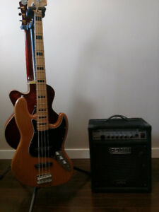 *LOWERED PRICE* - Squier Jazz Bass & Fender Bassman 100 Amp