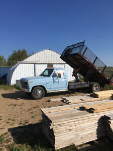 1984 Ford F350 Flat deck with PTO hoist