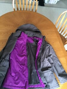 ladies size small grey & purple winter coat