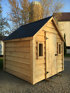 GARDEN SHED WITH STEEL ROOF (8X8)