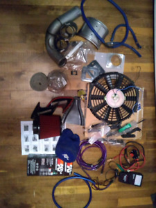 Lot of speed parts for car
