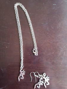 Brand new Browning necklaces and earrings