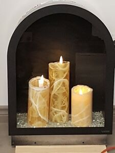 Illuminations 1924E Electric Candle Arch Fireplace for Sale