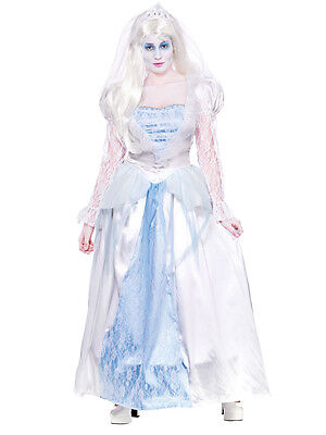 Adult Graveyard Bride Costume Ladies Zombie Corpse Widow Fancy Dress UK 6-24 New (Graveyard Bride Costume)