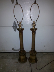 Lampe vintage, lampe sur pied, lampe de salon, lampe