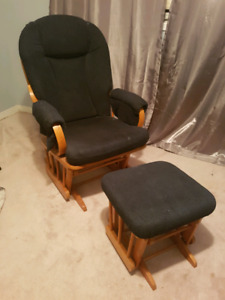 Glider rocking chair with foot rest