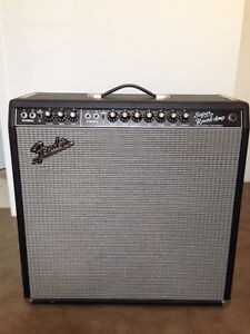 "Great Fender '65 Reissue Super Reverb Combo Amp 4x10"" and Pedal"