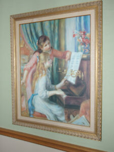"Vintage Pierre Auguste Renoir  ""Girls At The Piano"" Framed Print"