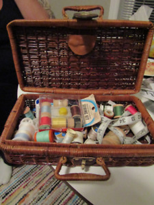 Sewing basket and contents