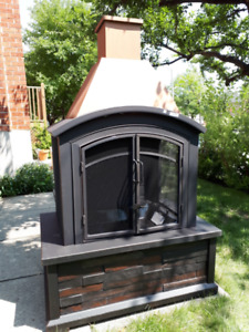 brand new outdoor fire place