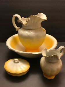 Water Pitcher and Bowl set 4 pc.