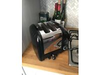Two Slot Dualit Toaster - Black & Silver