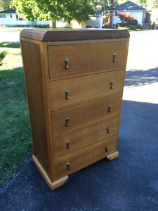 Quarter Sawn Oak High Boy w/ Hidden Vanity Compartment