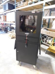 Mobile Security LCD Computer Cabinet