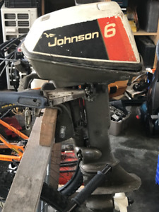 Johnson 6hp Outboard with gas tank