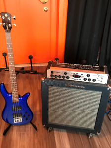 Holiday bundle!  Spector bass, Ampeg amp and fx rack