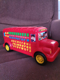 Baby toy alphabet bus by leap frog,