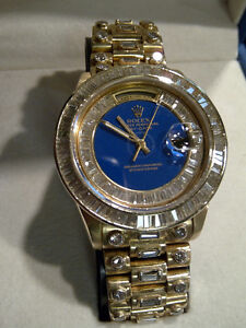 Men's 18K Gold Rolex President Watch----Diamonds Everywhere