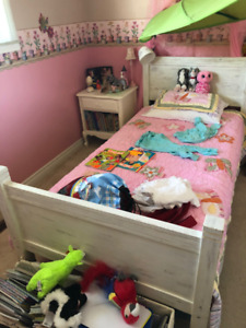 Beautiful wooden single bed (two!)