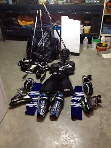 Complete hockey equipment