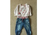 Girls Next outfit aged 9-12 months