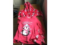 Bluezoo( designer at Debenhams ) dressing gown, pyjama set Age 7-8