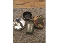 Camping bundle water bottle bowl cooking pan cutlery d of e cadets