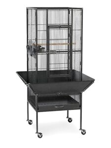 Wrought Iron Bird Cage for Sale  (Green Hammertone Colour)