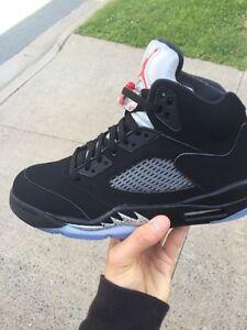 Air Jordan 5 OG black metallic Sz 9 Men's Brand new