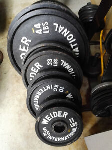 Weider International Olympic Weight Plates - In KG - Full Set