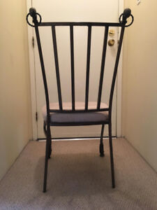 4 iron dining chairs