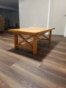 Freshly built hand crafted country styled coffee table