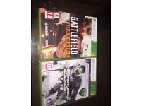 Battlefield & splinter cell Xbox 360 game