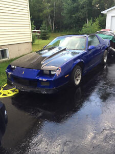 1985 Camaro Z-28  project to finish and 1988 Trans am GTA