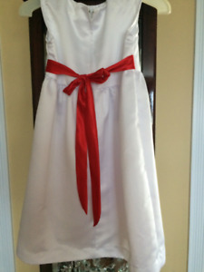 Wedding Gown, Child's Flowergirl Dress, and a White Wedding Cape
