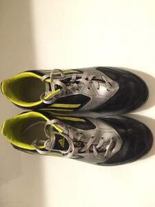 Black Green and silver adidas Soccer Cleats
