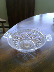 Glass two handled Dish