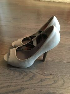 Madden Girl grey heels- like new- $50