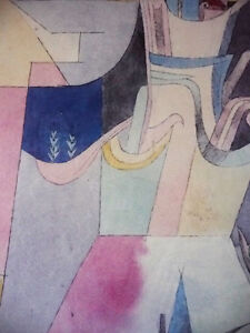 """Lithograph by Paul Klee """"Black Columns In A Landscape"""" 1919 Stratford Kitchener Area image 8"""
