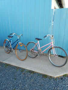 """Two 70 style 26 """" girls bikes for sale"""