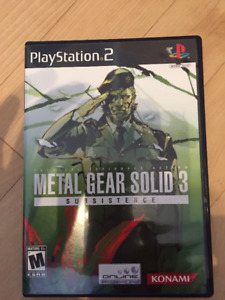 Jeu Metal Gear Solid Subsistence pour PlayStation 2