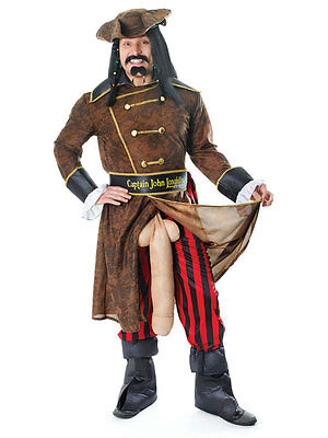 MENS RUDE STAG PIRATE CAPTAIN JOHN LONGFELLOW COSTUME FANCY HALLOWEEN OUTFIT