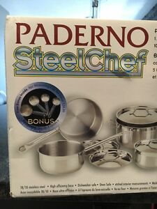 Paderno SteelChef 11 piece stainless steel cookware set Cambridge Kitchener Area image 4