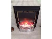 Electric fire as new, very modern heater bargain