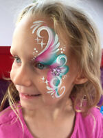Bluebird Face Painting and Glitter Tattoos