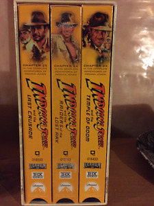 INDIANA JONES TRILOGY 3 VHS TAPES BOX