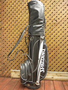 Golf set 14 clubs bag umbrella Reebok shoes size 10.5