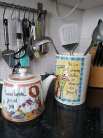Tea coffee sugar and cookie jars