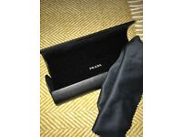 PRADA Glasses Case & Cleaning Cloth
